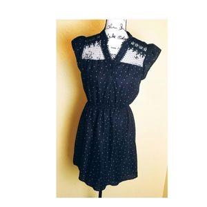 Mine Black and White Polka Dress S